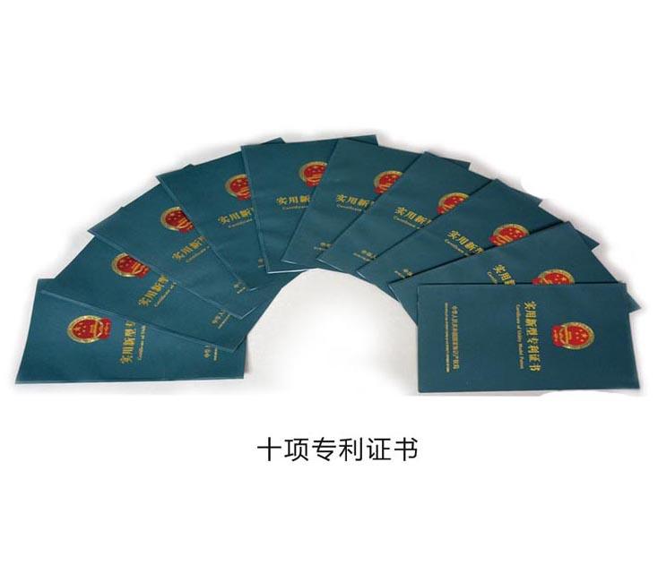 十项专利证书